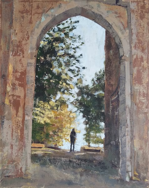 Medieval Gateway Oil Painting
