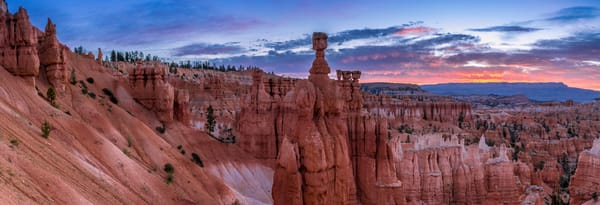 Fine Art Print of sunrise over Thor's Hammer and Bryce Canyon National Park Hoodoos in Utah.