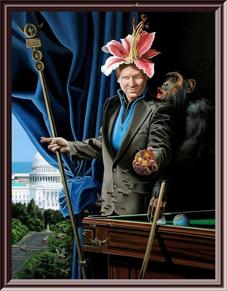 Thinker political pundit painting | Kevin Grass Fine Art