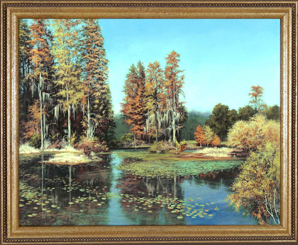 Autumn Pond painting | Kevin Grass Fine Art