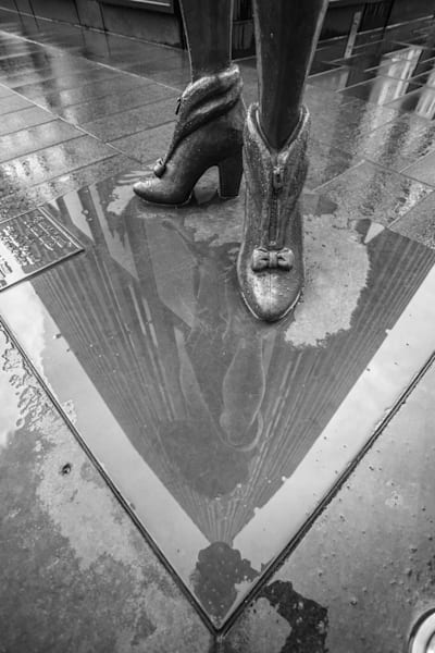 Puddle Reflection - BW - Prints
