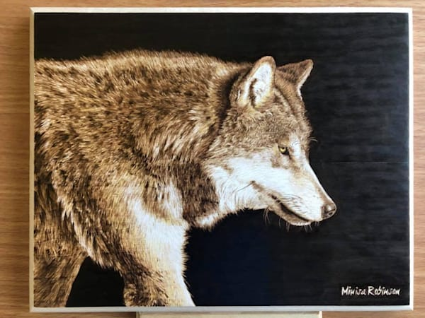 Pack Leader- (Wolf Original Woodburning)