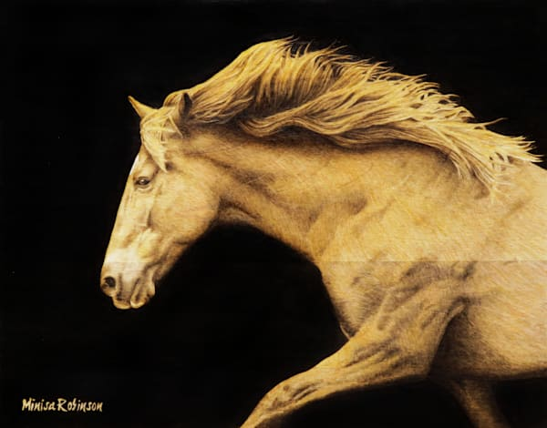 Grace in Motion- (Horse Original Woodburning)