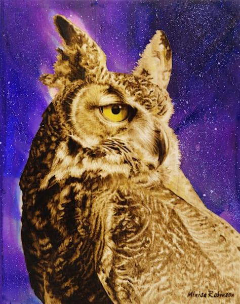 Keeper of the Night- (Owl Original Woodburning)
