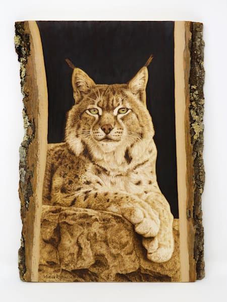 Fury at Rest- (Bobcat Original Woodburning)