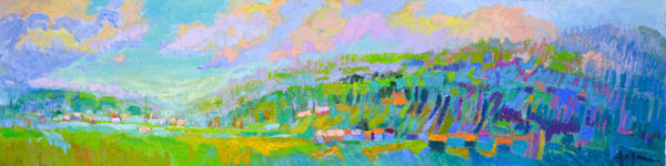 Healing Art Paintings & Stories, Peaceful Valley by Dorothy Fagan