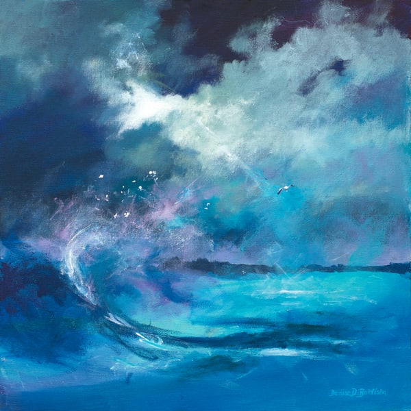 Raging Seas Art Print