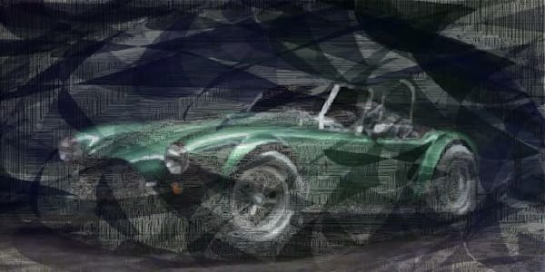 Green Cobra with Mist Wall Art