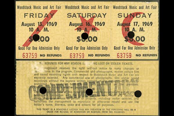 Woodstock,ticket,1969
