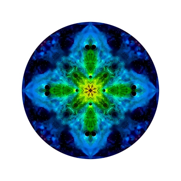 Green Crow Beak M1 - Modern Mandala | A Psychedelic Art Project by Cameron Emmanuel