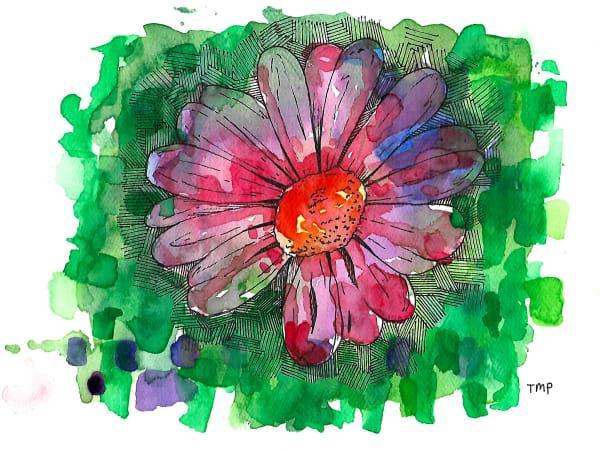 Matt Pierson Artworks | Purple Bluish Flower with green background