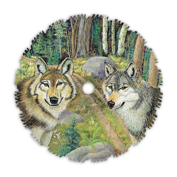 """ATV Trail Wolves"" fine art print by Sue Zabel."