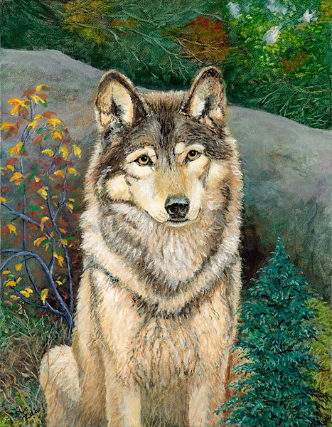"""Lone Wolf"" fine art print by Sue Zabel. Artistic Memories."