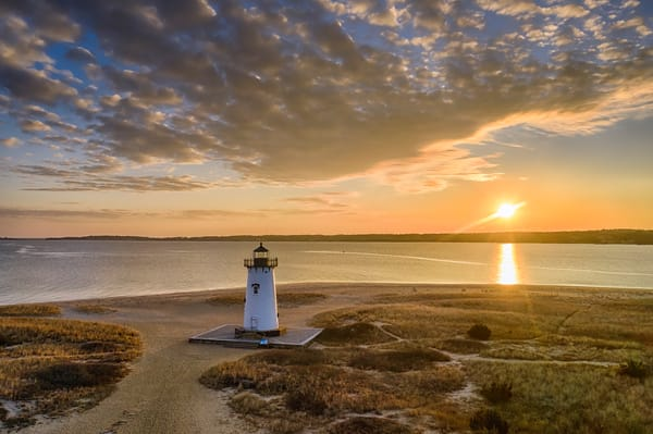Edgartown Light January Sunrise Art | Michael Blanchard Inspirational Photography - Crossroads Gallery