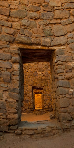 Aztec Doorway Pano Photo Print