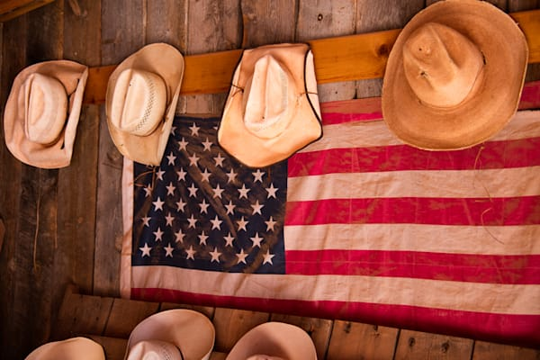Hats and Flags Photo Print