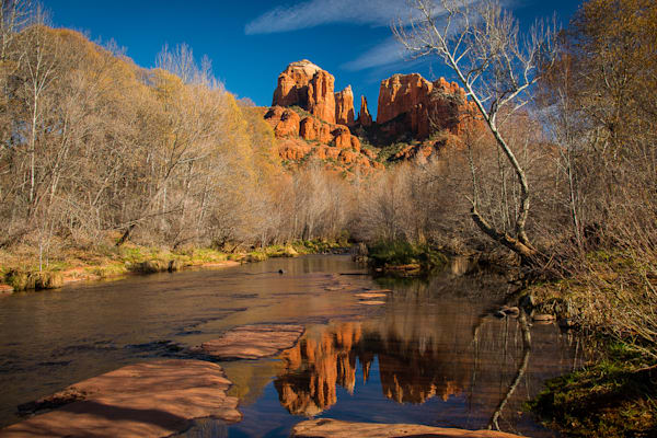 Sedona - Cathedral Rock Blue H Photo Print