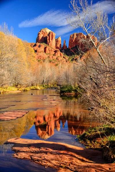 Sedona - Cathedral Rock Blue V Photo Print