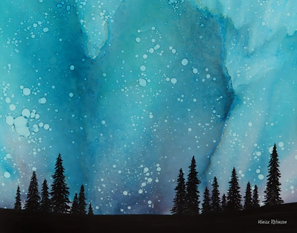 Evening Solace- Ink Painting Print
