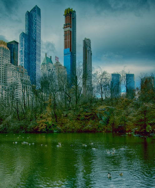 A Fine Art Photograph of a Foggy Morning in Central Park by Michael Pucciarelli