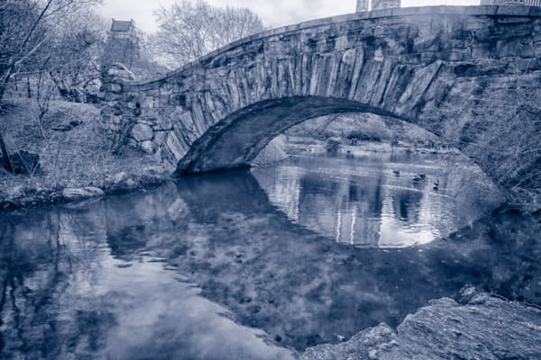 A Black and White Fine Art Photograph of the Gapstow Bridge by Michael Pucciarelli
