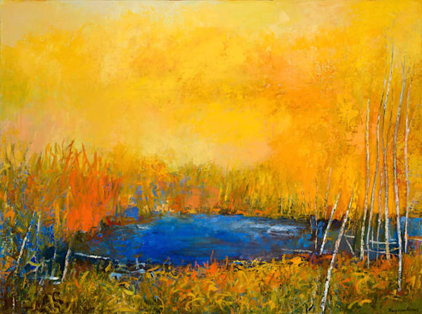 Abstract Landscape Painting By Tracy Lynn Pristas
