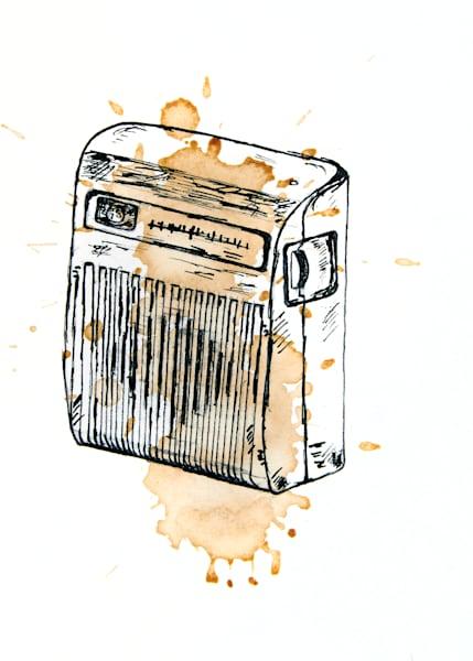 Am Radio | Vintage Audio | Limited Edition Art | Blue Orange Thing