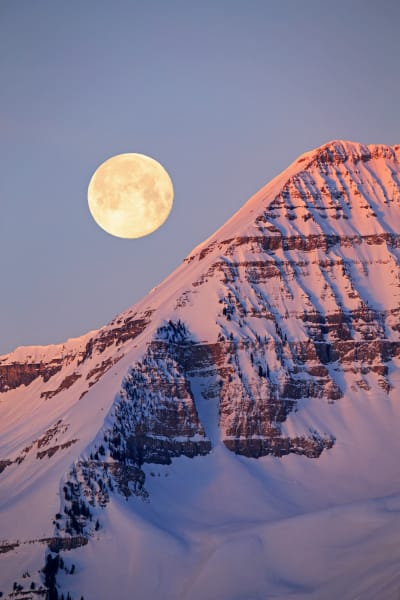 Timpanogos moonset composite