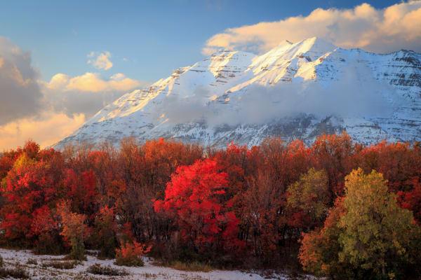 fall snow on timpanogos