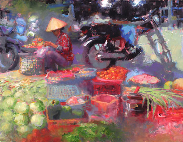 Vibrant Vietnam Original Oil Painting