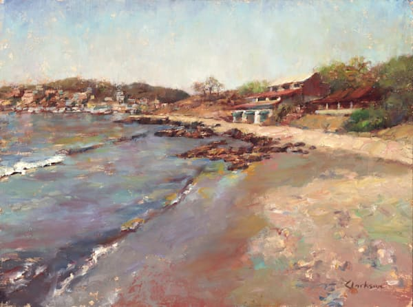 Shimmering Beach Oil Painting