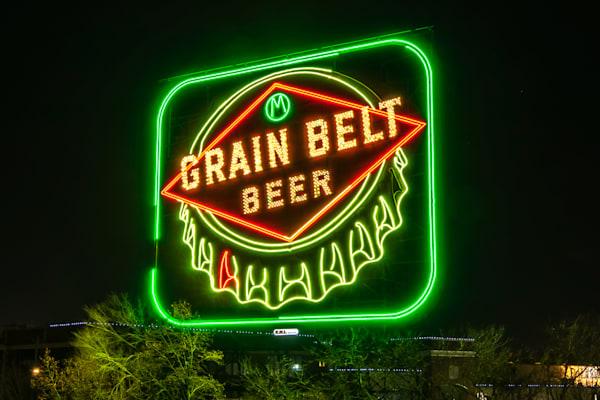 Grain Belt Sign - Minneapolis Art Prints | William Drew Photography