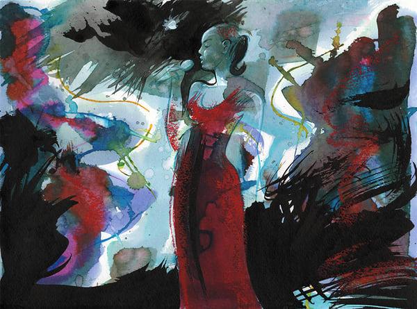 Diva In Red Art | Digital Arts Studio / Fine Art Marketplace