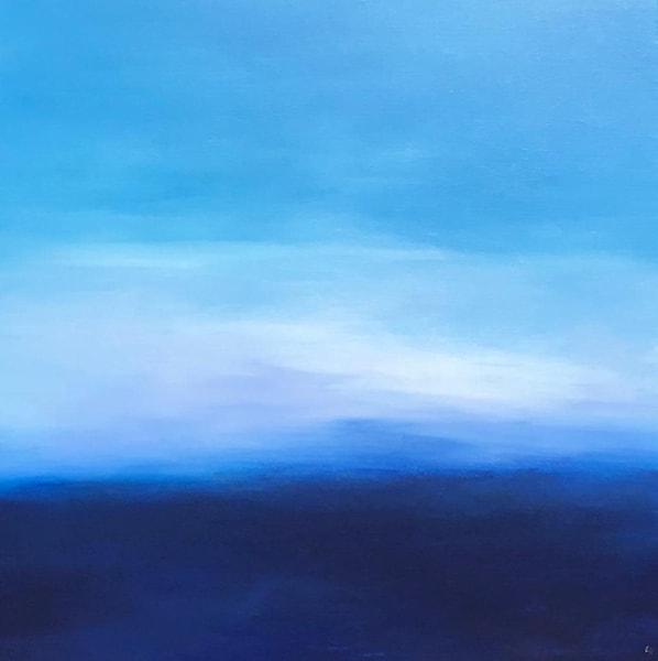 Oceans, Original Finger Painting by Sue Vittner