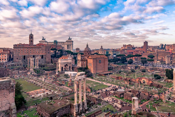 Fine Art print of the ruins of the Roman Forum from Palatine Hill