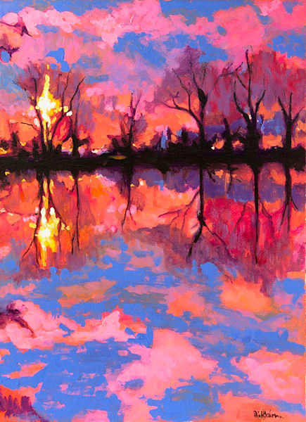 Reflections In the Gloaming | Fine Art Painting by Rick Osborn