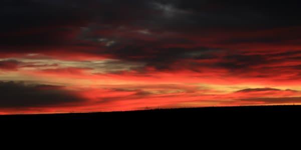 Colour Painted Prairie Sky