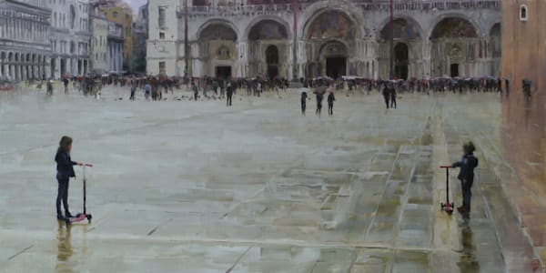 painting children Piazzo san Marco