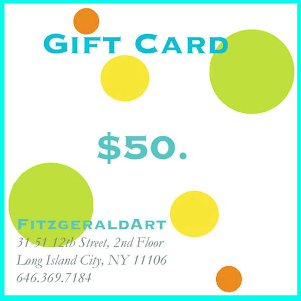 $50 Gift Card | FitzgeraldArt