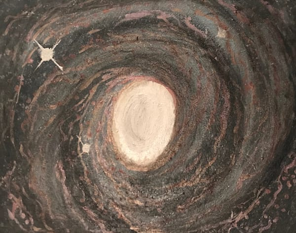 Caught In A Whirlpool Galaxy Art | Marci Brockmann Author, Artist, Podcaster & Educator