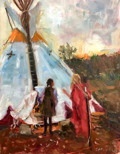 House of Two Spirits Tipi painting in Agoura Ca