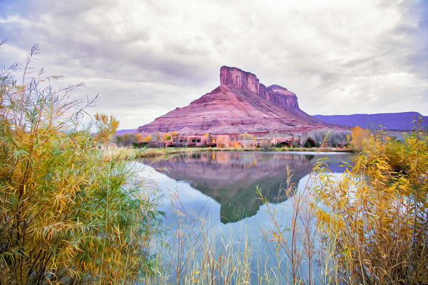 Palisade Refection, Gateway, CO-shop art/MasonandMasonImages