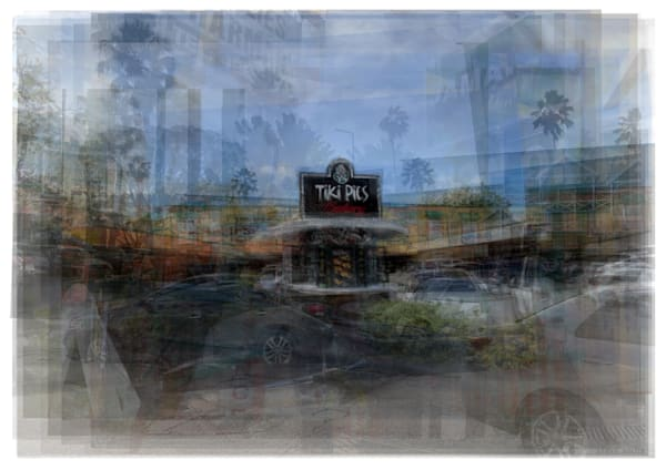 Overlay art – contemporary fine art prints of Tiki Pies Bakery in Barabados