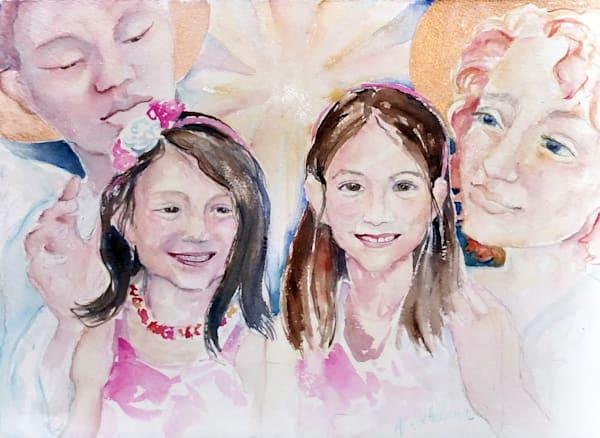 Hanneman Girls Guardian Angel Soul Essence Portrait