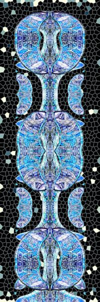 Glasgow Blue print of photograph for sale as digital art by Maureen Wilks