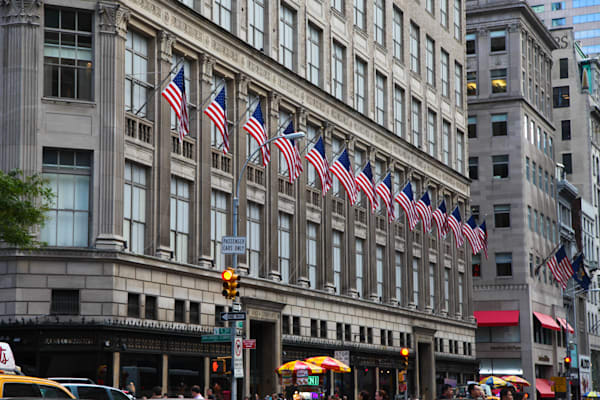 Flags on Saks Fifth Avenue - Prints