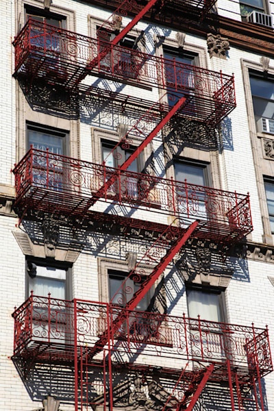 The Red Fire Escape - Prints