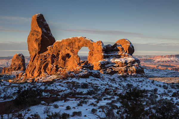 Golden Light on Turret Arch  I Utah Landscape Photography I David N. Braun