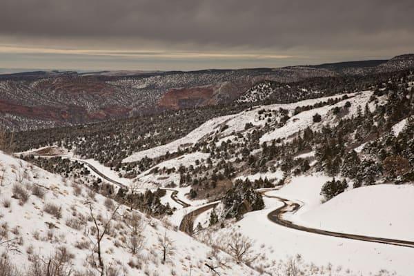 La Sal Mountain Road Twists and Turns
