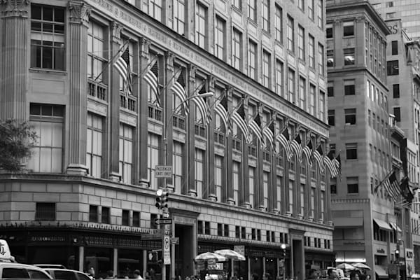 Flags on Saks Fifth Avenue - BW - Prints